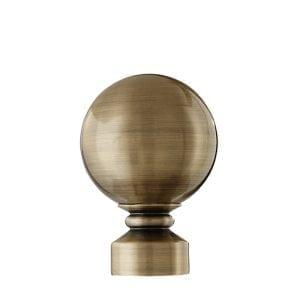 Willow Bloom Ball-Antique Brass