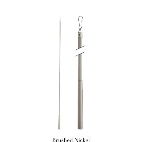 Willow Bloom Baton-Brushed Nickel