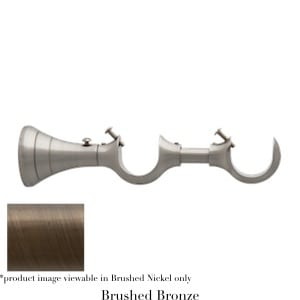 Willow Bloom Bracket-DoubleTurned-Brushed Bronze
