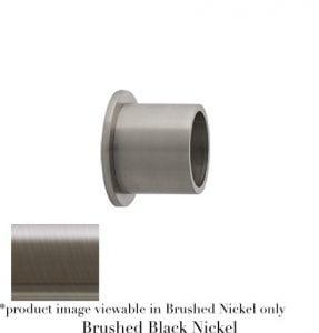 Willow Bloom Bracket-InsideMountforFixedPole-Brushed Black Nickel