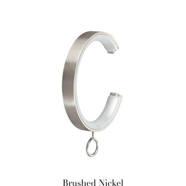 Willow Bloom CRingwithEyelet-Brushed Nickel