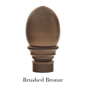 Willow Bloom Home Egg Finial - Brushed Bronze