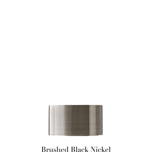 Willow Bloom EndCap-Brushed Black Nickel