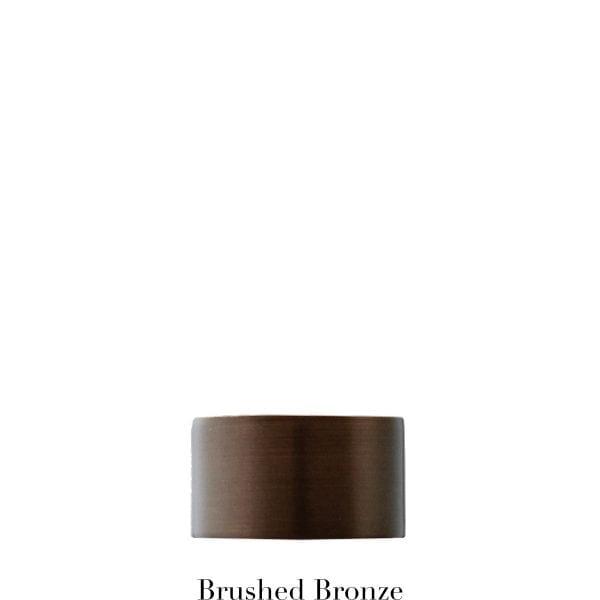 Willow Bloom EndCap-Brushed Bronze