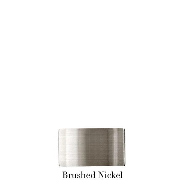 Willow Bloom EndCap-Brushed Nickel