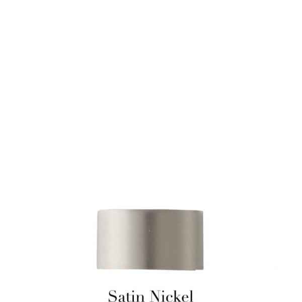 Willow Bloom EndCap-Satin Nickel