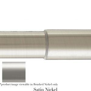 Willow Bloom Pole-Telescoping-Satin Nickel