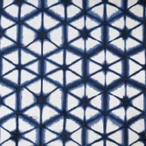 Willow Bloom Hex Indigo Drapes