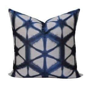 Willow Bloom Hex Indigo Pillow