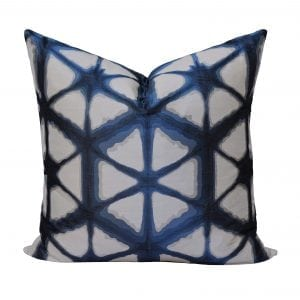 Willow Bloom Hex Indigo Pillow
