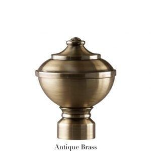 Willow Bloom Urn-Antique Brass