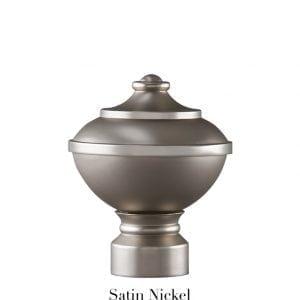 Willow Bloom Urn-Satin Nickel