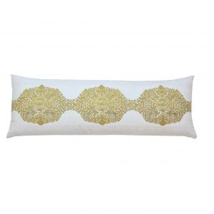 Willow Bloom Grain Saffron Lumbar Pillow
