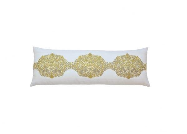 Willow Bloom Grain Saffron Lumbar Pillow