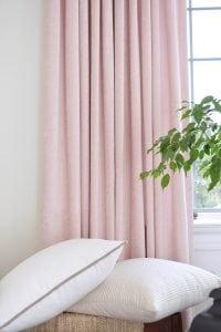 Willow Bloom Home Velvet Blush Drapes