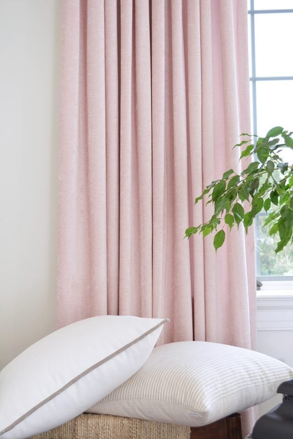 Willow Bloom Home Velvet Blush Drapes