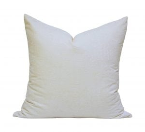 Willow Bloom Velvet Cream Pillow