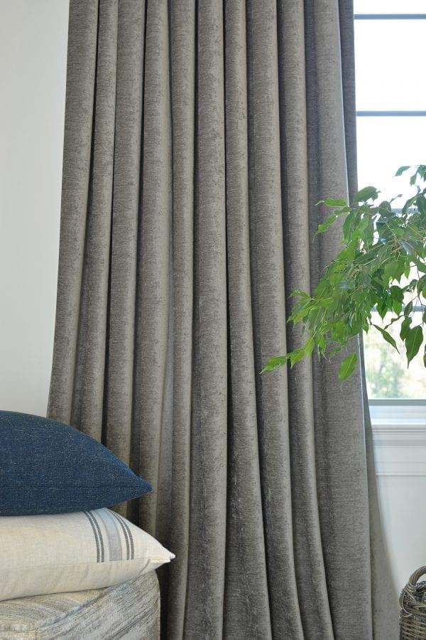 Willow Bloom Home Velvet Titanium Drapes