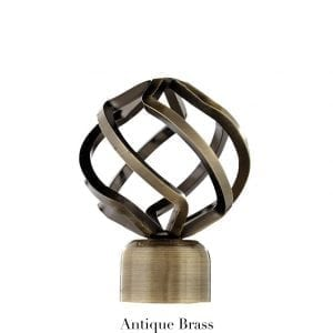 Willow Bloom Finial-BirdCage-Antique Brass