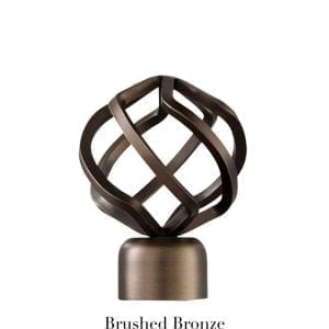 Willow Bloom Finial-BirdCage-Brushed Bronze