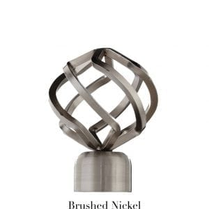 Willow Bloom Finial-BirdCage-Brushed Nickel