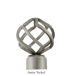 Willow Bloom Finial-BirdCage-Satin Nickel