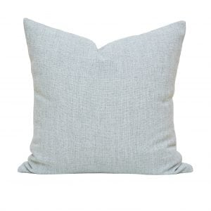 Willow Bloom Linen Aqua Pillow