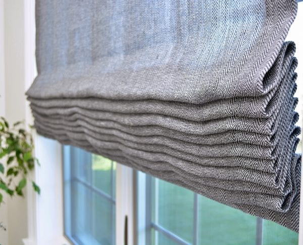 Willow Bloom Home Bespoke Charcoal Roman Shade