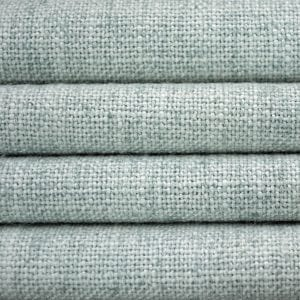 Willow Bloom Home Linen Aqua Roman Shade