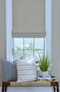Willow Bloom Home Linen Sand Roman Shade