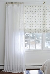 Willow Bloom Home Sheer Whipstitch Drapes