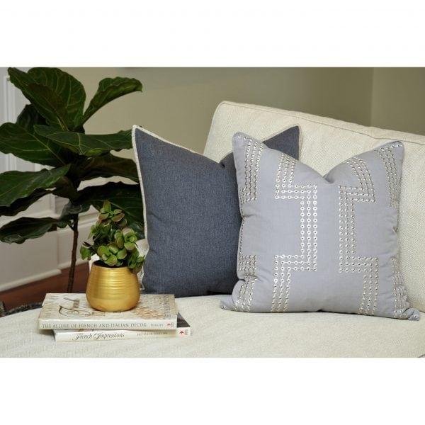 Willow Bloom Denim Whipstitch Upbeat Pillow