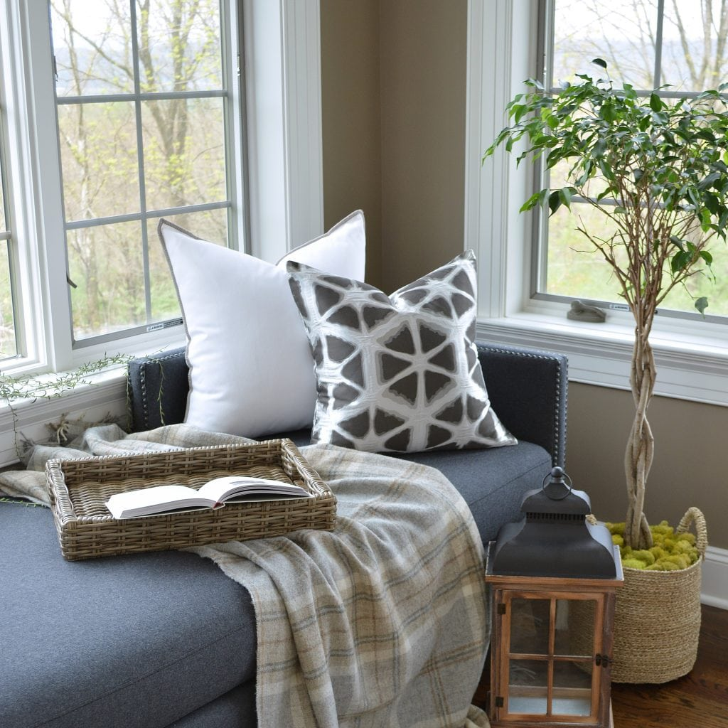Willow Bloom Pristine Whipstitch Pillow Hex Stone Pillow