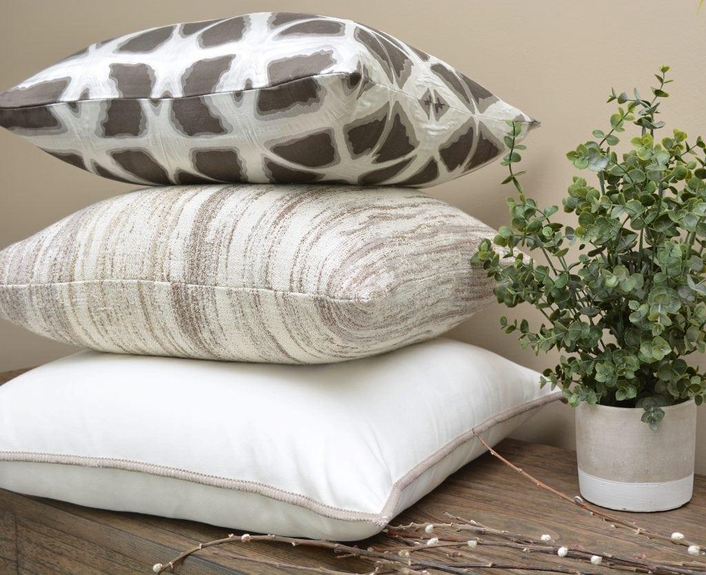 Willow Bloom Hex Stone Pillow Lamina Pillow Pristine Whipstitch Pillow