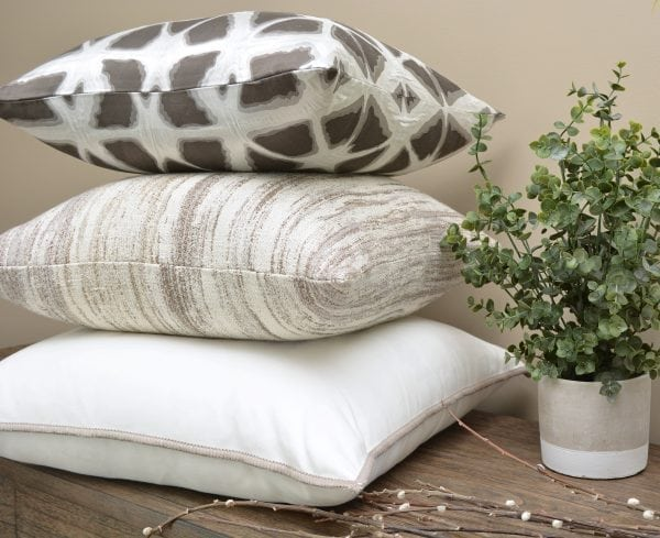 Willow Bloom Hex Stone Pillow Lamina Pillow Pristine Whipstitch Pillow