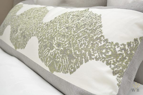Willow Bloom Grain Sage Green Lumbar Pillow