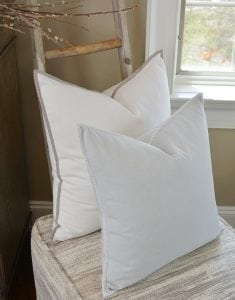 Willow Bloom Pristine Whipstitch Pillow Silver Whipstitch Pillow