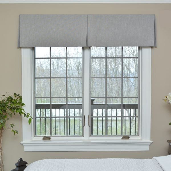 Willow Bloom Linen Slate Valance