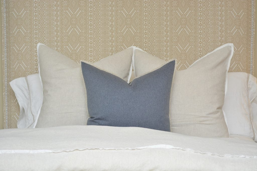Willow Bloom Denim Whipstitch Pillow