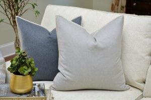 Willow Bloom Silver Whipstitch Pillow Denim Whipstitch Pillow