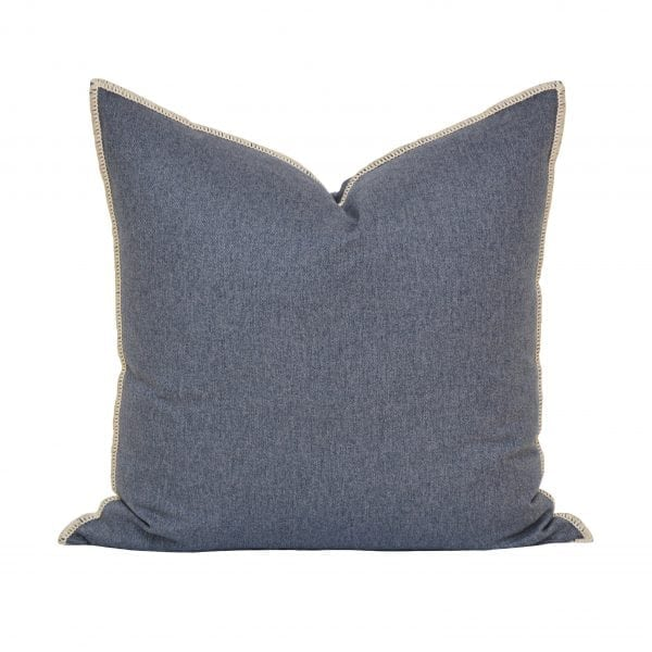 Willow Bloom Whipstitch Denim Pillow