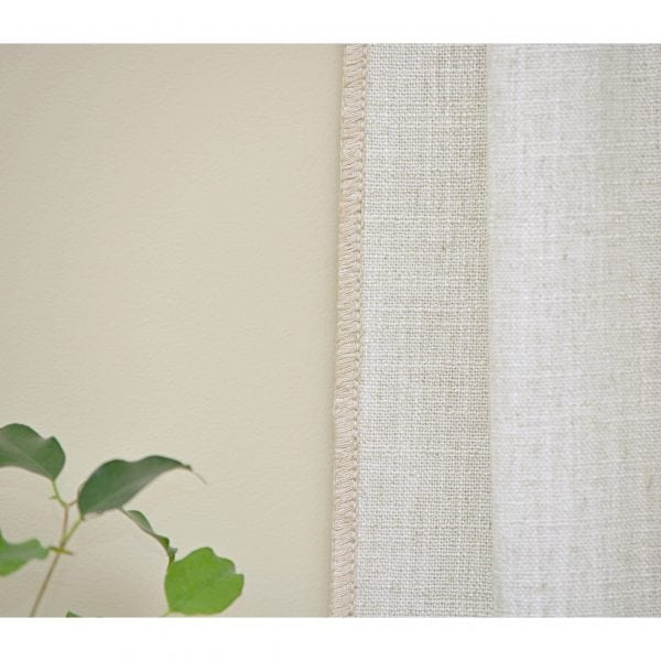 Willow Bloom Whipstitch Linen Dove Panel