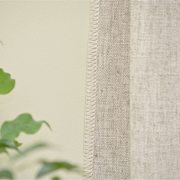 Willow Bloom Whipstitch Linen Sand Panel