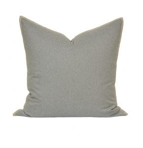 Willow Bloom Silver Whipstitch Pillow