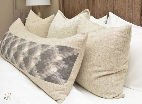 Willow Bloom Bali Lumbar Pillow Linen Sand Pillow