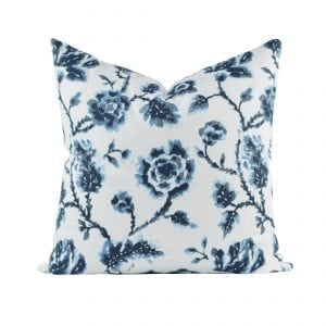 Willow Bloom Evelyn Navy Pillow