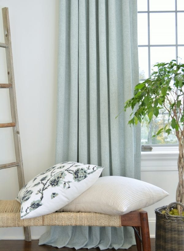 Willow Bloom Home Linen Aqua Drape