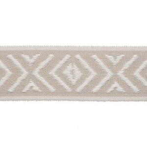 Willow Bloom Roman Shade Sandstone Trim