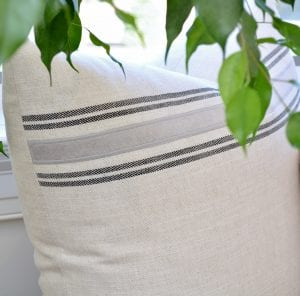 Willow Bloom Home Marlow Charcoal Pillow
