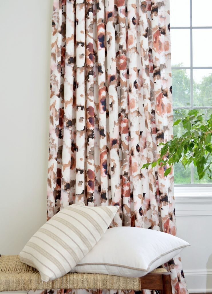 Willow Bloom Home Floral Splash Rosey Drapes